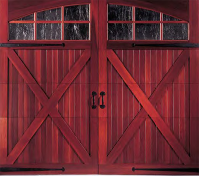 Non-Insulated Wood Garage Door